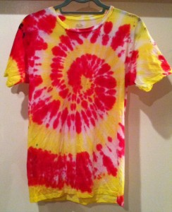 Pink & Yellow Tie Dye t-Shirt