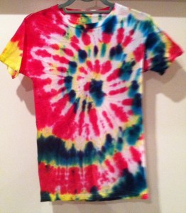 Pink, Green and Yellow Tie Dye T-Shirt
