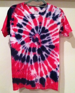 Red White and Blue tie dye t-shirt